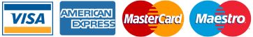 Visa, Mastercard, AmericanExpress, Maestro